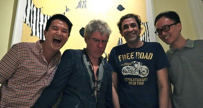From left to right: Director Glen Goei, Cinematographer Christopher Doyle, Writer Haresh Sharma & Producer Tan Bee Thiam